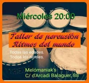 CLASE: TALLER DE PERCUSIÓN- RITMOS DEL MUNDO