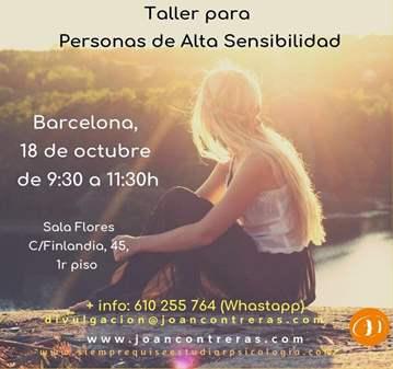 TALLER DE PERSONAS CON ALTA SENSIBILIDAD
