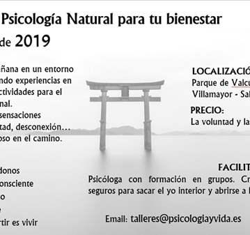 TALLER DE PSICOLOGÍA NATURAL PARA TU BIENESTAR