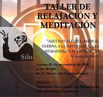 TALLER DE RELAJACIÓN Y MEDITACIÓN