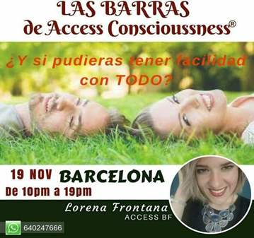 TALLER: LAS BARRAS DE ACCESS CONSCIOUSNESS