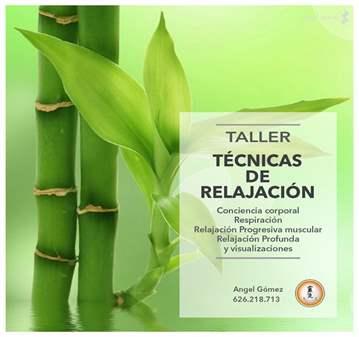 TALLER DE TÉCNICAS DE RELAJACIÓN