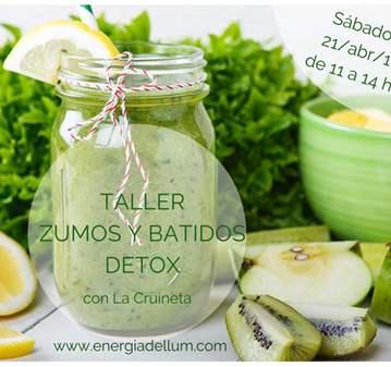 TALLER DE ZUMOS Y BATIDOS DETOX