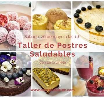TALLER DE POSTRES SALUDABLES