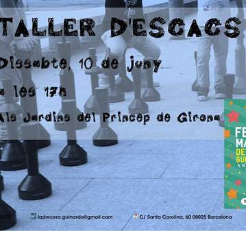 TALLER: ESCACS - FESTA MAJOR DEL BAIX GUINARDÓ