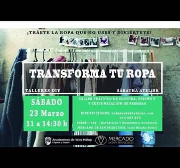 TALLER DIY TRANSFORMA TU ROPA