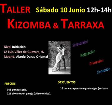 TALLER EXPERIENCIAL DE KIZOMBA Y TARRAXA: BÁSICO
