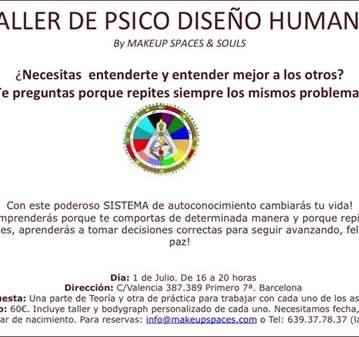 CURSO: TALLER INICIACIÓN AL PSICO-DISEÑO HUMANO