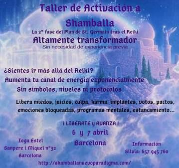 TALLER TEÓRICO/PRÁCTICO ACTIVACIÓN A SHAMBALLA