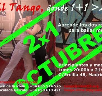 CLASE: TANGO, EN OCTUBRE 2X1. APRENDE LOS DOS R...