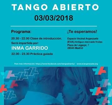CLASE: TANGO GRATIS: CLASE + PRÁCTICA