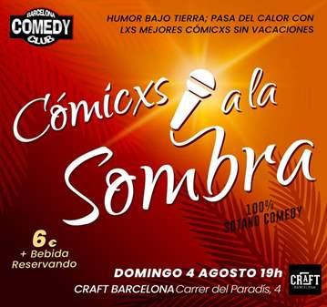 EVENTO: TARDES DEL COMEDY: RISAS A LA SOMBRA