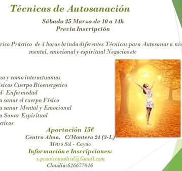 TALLER: TÉCNICAS DE AUTO-LIMPIEZA ENERGETICA