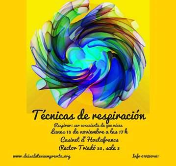 SESIÓN: TÉCNICAS DE RESPIRACIÓN (REBERTHING)