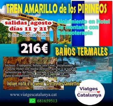 VIAJE: TREN AMARILLO DEL PIRINEO FRANCES