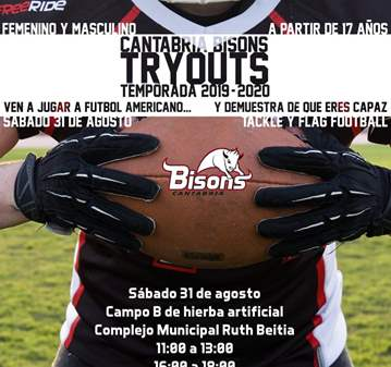 EVENTO: TRYOUTS FUTBOL AMERICANO