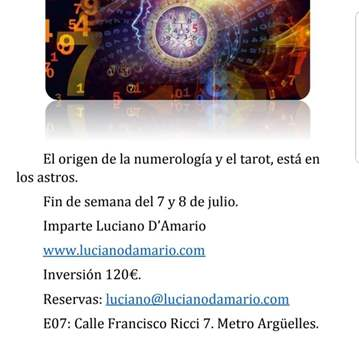 TALLER: SEMINARIO INTENSIVO DE NUMEROLOGIA ASTR...