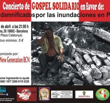 CONCIERTO: GOSPEL SOLIDARIO DAMNIFICADOS INUNDA...