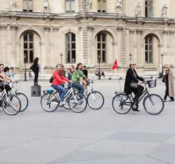 VISITE GUIDÉE À VÉLO À PARIS