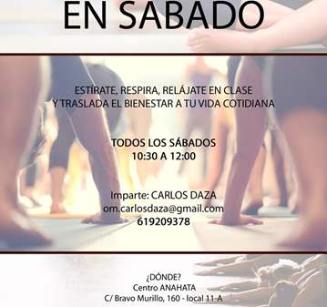 CLASE: YOGA EN SÁBADO
