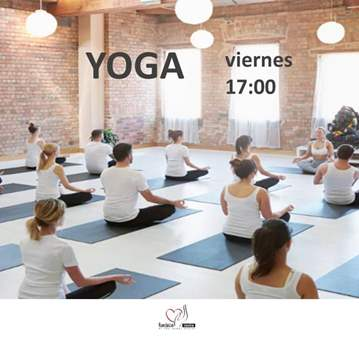 CLASE: YOGA  VIERNES 17:00   20€/MES