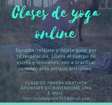 CLASE: YOGA PARA RELAJARSE EN PERIODO DE VIRUS