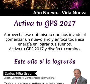 CHARLA: ACTIVA EL GPS DE TU VIDA PARA EL 2017