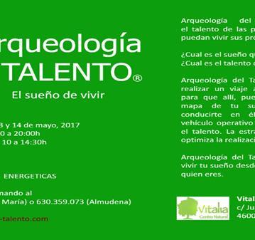 TALLER: ARQUEOLOGIA DEL TALENTO