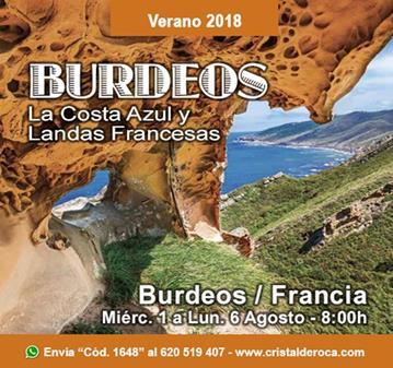 VIAJE: BURDEOS, COSTA AZUL Y LANDAS FRANCESAS I