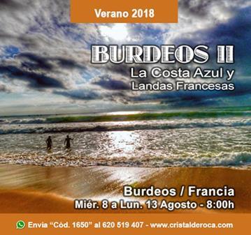 VIAJE: BURDEOS, COSTA AZUL Y LANDAS FRANCESAS II
