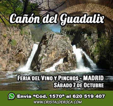 EXCURSIÓN: CAÑÓN DEL GUADALIX, FERIA VINO/PINCHOS (SOMOS 45)
