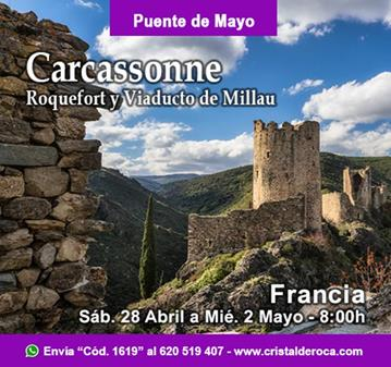 VIAJE: CARCASSONNE, ROQUEFORT Y VIADUCTO DE MILLAU