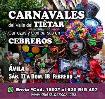 VIAJE: CARNAVALES TIÉTAR, CARROZAS Y COMPARSAS CEBREROS