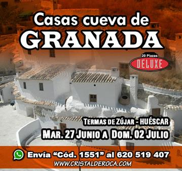 VIAJE: CASAS CUEVA GRANADA Y TERMAS DE ZÚJAR (DELUXE 20)