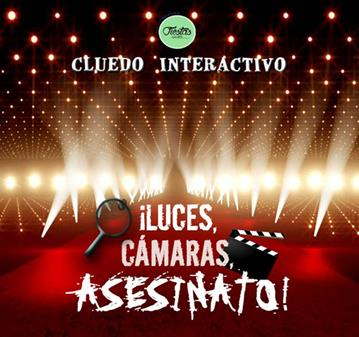 EVENTO: CENA DE MISTERIO CLUEDO LUCES, CÁMARAS, ASESINATO
