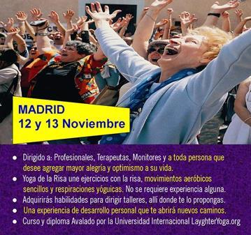 CURSO: CERTIFICACIÓN DE LÍDERES DE YOGA DE LA RISA MADRID