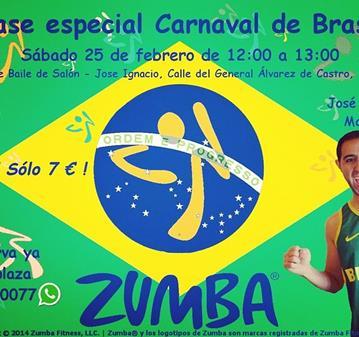 ENTRENAMIENTO: CLASE DE ZUMBA® ESPECIAL CARNAVAL DE BRASIL