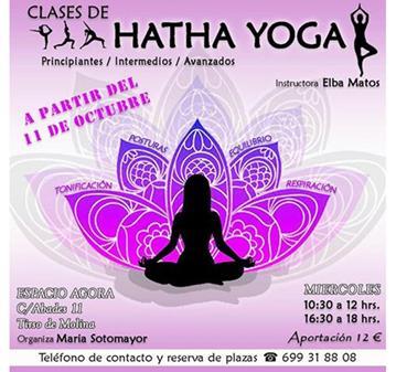 CLASES DE HATHA YOGA