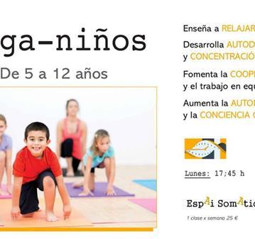 CLASES DE YOGA PARA NIÑOS LOS LUNES 17'45 18'45