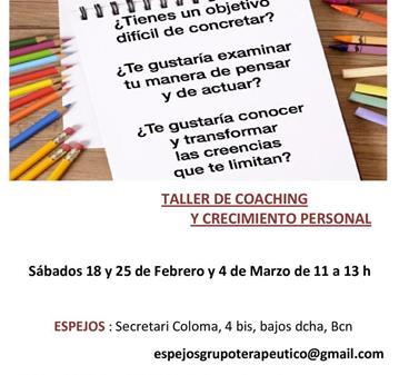 TALLER: COACHING Y HERRAMIENTAS DE CRECIMIENTO PERSONAL