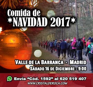RUTA: COMIDA DE **NAVIDAD 2017** – VALLE DE LA BARRANCA