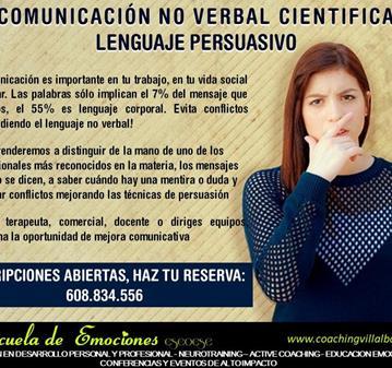 CURSO: COMUNICACIÓN NO VERBAL CIENTIFICA