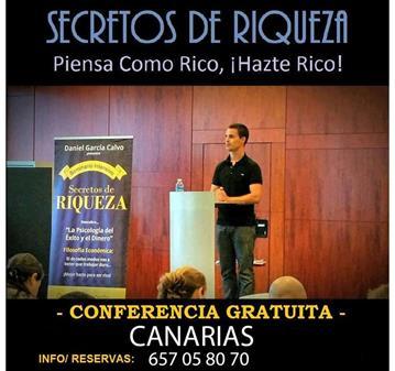 CONFERENCIA GRATUITA #SECRETOSDERIQUEZA