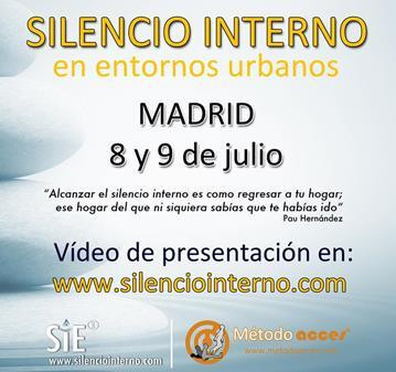 CURSO SILENCIO INTERNO EN ENTORNOS URBANOS. MADRID