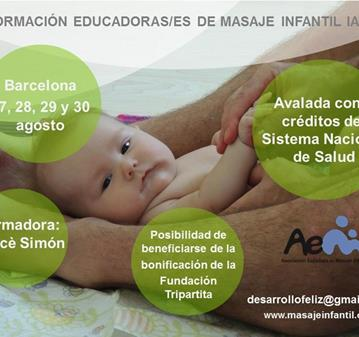 CURSO: ENSEÑA A LAS MADRES Y PADRES MASAJE INFANTIL