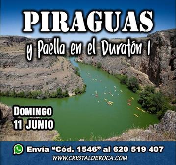 EXCURSIÓN: PIRAGUAS/PAELLA EN EL DURATON I (YA SOMOS 34)