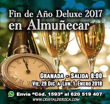 FIESTA: FIN DE AÑO DELUXE 2017 EN ALMUÑECAR (SALIDA 8:00H)