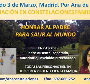 CURSO: FORMACIÓN CONSTELACIONES FAMILIARES: EL PADRE