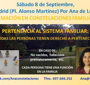 CURSO: FORMACIÓN CONSTELACIONES FAMILIARES: PERTENENCIA