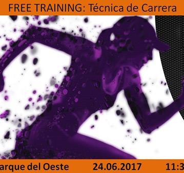 ENTRENAMIENTO: FREE TRAINING: TÉCNICA DE CARRERA P. DEL OESTE